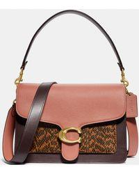 121262a42d68 COACH Edie Shoulder Bag 42 With Embellished Leopard Print in Black ...