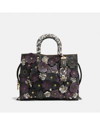 9065e20b26e2 COACH 37575 Liblk Leather fur exotic Skins- leather in Black - Lyst