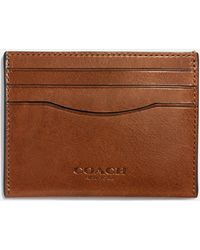 COACH - Card Case In Water Buffalo Leather - Lyst
