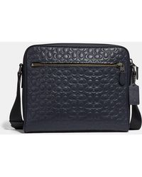 9c5f73ad0cf66d Lyst - COACH Metropolitan Camera Bag In Signature Leather in Black ...