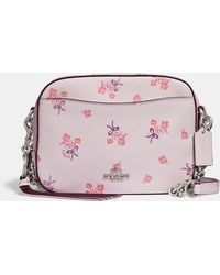 COACH - Camera Bag With Floral Bow Print - Lyst