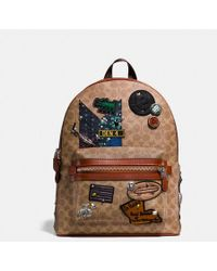 COACH - X Keith Haring Academy Backpack In Signature Patchwork - Lyst
