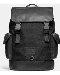 COACH - Rivington Signature Logo Jacquard Backpack - Lyst