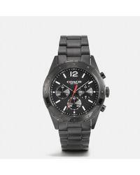 COACH - Sullivan Sport Black Ionized Plating Chrono Bracelet Watch - Lyst