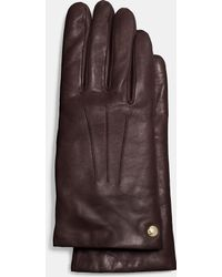 COACH | Short Leather Glove | Lyst