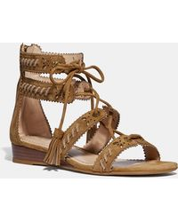 c9dc1545b2b COACH - Via Demi Wedge Sandal - Lyst