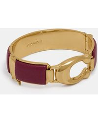 COACH - Wrapped Sculpted Signature Bangle - Lyst