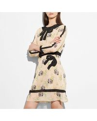 COACH - Embroidered Prairie Dog Rose Dress - Lyst