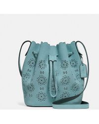 COACH - Bucket Bag 18 With Cut Out Tea Rose - Lyst
