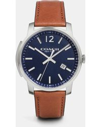 COACH - Bleecker Leather Strap Chronograph Watch - Lyst