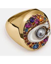 COACH - Multicolor Signature Ring - Lyst