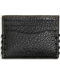 COACH - Rip And Repair Card Case In Buffalo Embossed Leather - Lyst