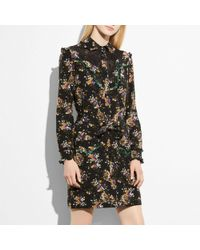 COACH - Western Lace Shirt Dress - Lyst