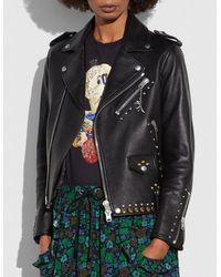COACH - Western Rivets Moto Jacket - Lyst
