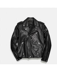 593200176c7 Lyst - Men s COACH Leather jackets Online Sale