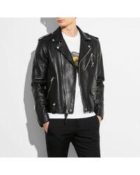 COACH - Moto Jacket - Lyst