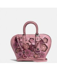 COACH - Dakotah Satchel 22 With Linked Tea Rose - Lyst