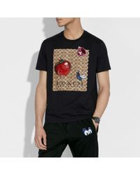 COACH - Disney X Signature T-shirt With Patches - Lyst