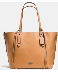 COACH - Large Market Tote In Polished Pebble Leather With Whiplash Detail -  Lyst e527d2ac3fd96