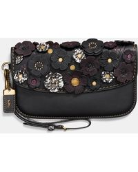 COACH - Clutch With Snakeskin Small Tea Rose - Lyst