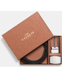 COACH - Boxed Sculpted C Cut-to-size Reversible Belt - Lyst