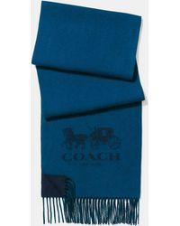 COACH - Cashmere Bicolor Logo Scarf - Lyst