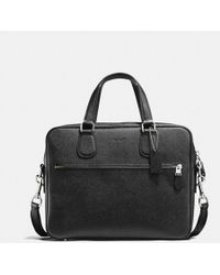 COACH - Hudson Bag 5 In Crossgrain Leather - Lyst