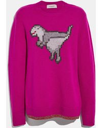 COACH - Pixel Rexy Sweater - Lyst