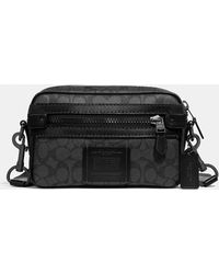 bd677bc5618a COACH Academy Crossbody In Signature Canvas in Black for Men - Lyst
