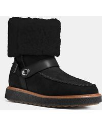 COACH - Moto Shearling Boot - Lyst