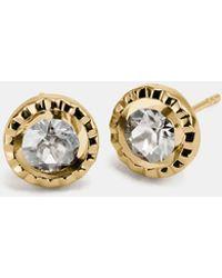 COACH - Daisy Rivet Stone Stud Earring - Lyst