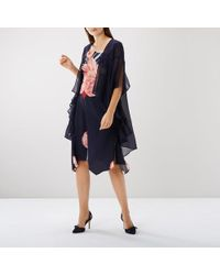 Coast - Carrie Long Line Cape - Lyst