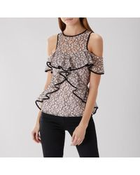 Coast - Sandy Lace Layer Top - Lyst