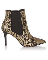 Coast - Mizuna Heeled Jacquard Boots - Lyst