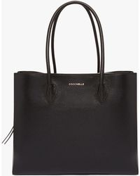 Coccinelle - Farisa Maxi Noir Tumbled Leather - Lyst