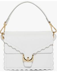 Coccinelle - Ambrine Merletto Blanche Tumbled Leather - Lyst