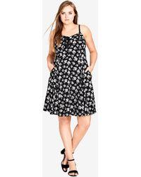 City Chic - Deco Floral Dress - Lyst