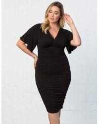 137050c3 Ganni Black Ganache Charron Wrap Dress in Black - Lyst