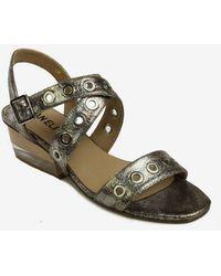 376504595033 Lyst - Kate Spade Adagio Perf Gladiator Sandals Platino in Natural