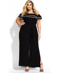 1757f3c41a09 Lyst - City Chic Sports One Jumpsuit in Black