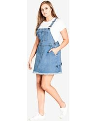 7cb5ddd5f City Chic - Denim Overall Bib Dress - Lyst