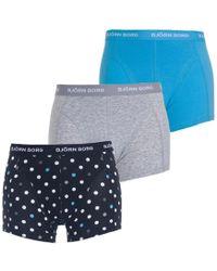 Björn Borg - Dot Short Shorts 3 Pack - Lyst