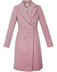 Ted Baker Saffra Chevron Wool Midi Coat