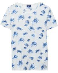 GANT - Palm Tree Short Sleeve T-shirt - Lyst