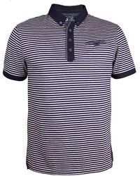 Raging Bull - Fine Stripe Jersey Polo - Lyst