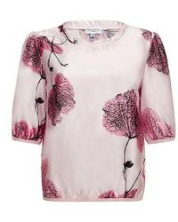 Almost Famous - Floral Blouse - Lyst
