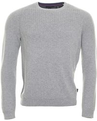 Ted Baker - Kybosh Mixed Stitch Crew Neck Jumper - Lyst