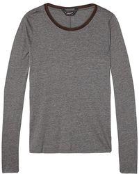 Scotch & Soda - Lurex Long Sleeve T-shirt - Lyst