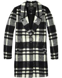 Scotch & Soda - Bonded Wool Check Coat - Lyst