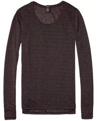 Scotch & Soda - Basic Long Sleeve T-shirt - Lyst